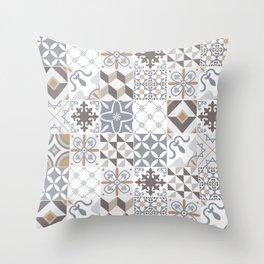 Azulejos Lisbon Portugal Throw Pillow
