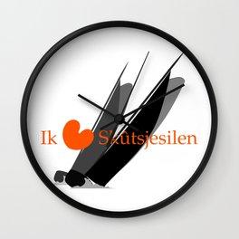 Ik hou van Skûtsjesilen Wall Clock