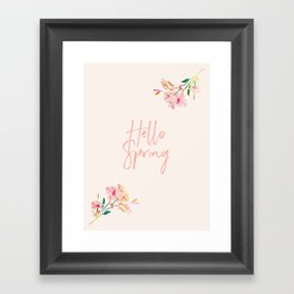 Hello Spring Framed Art Print