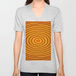 circle pattern abstract background in orange and yellow Unisex V-Neck
