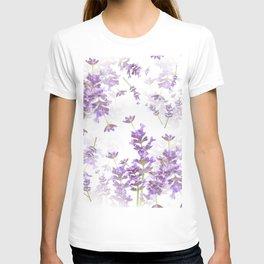 Lavender Bouquets On White Background #decor #society6 #buyart T-shirt