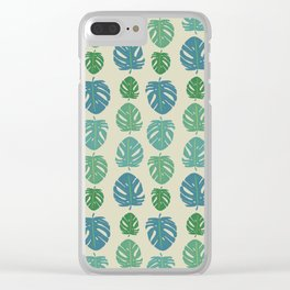 Monstera color scale Clear iPhone Case
