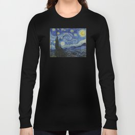The Starry Night by Vincent van Gogh Long Sleeve T-shirt