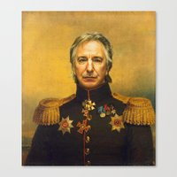 replaceface Canvas Prints featuring Alan Rickman - replaceface by replaceface