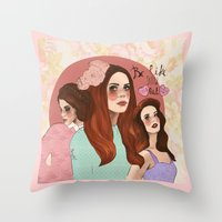lana Throw Pillows featuring Lana by Clementine Petrova