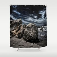 alone Shower Curtains featuring Alone by SpaceFrogDesigns