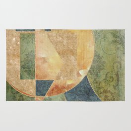 Abstract Grunge Patchwork Rug