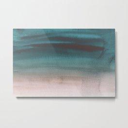 Sky Watercolor Texture Abstract 281 Metal Print