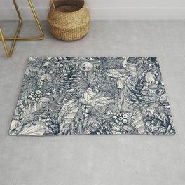 forest floor indigo ivory Rug