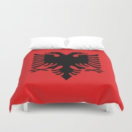National flag of Albania - Authentic version Duvet Cover