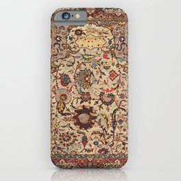 Safavid Silk Metal-Thread Persian Rug Print iPhone Case