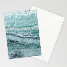 Mystic Stone Aqua Teal Stationery Cards