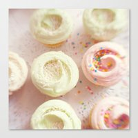 cupcakes Canvas Prints featuring Cupcakes by Kim Fearheiley Photography