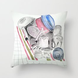 Dishes Throw Pillow