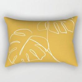 Monstera minimal - yellow Rectangular Pillow