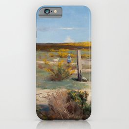 Arthur Streeton - Early Summer, Gorse in Bloom (1888) iPhone Case