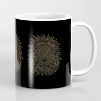 lannister Mugs featuring lion / black by Anna Grunduls