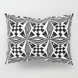 black and white symetric patterns 19- bw, mandala,geometric,rosace,harmony,star,symmetry Pillow Sham