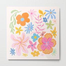 Candy Flowers Metal Print