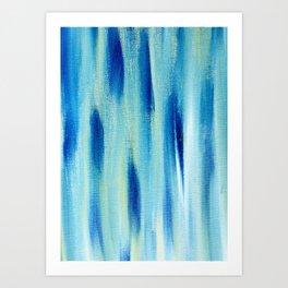 Beach Blues Absract Art Print