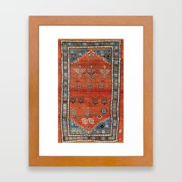 Bakhshaish Azerbaijan Northwest Persian Carpet Print Framed Art Print