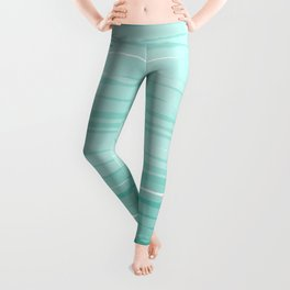 Mint & White Water breeze stripes Leggings