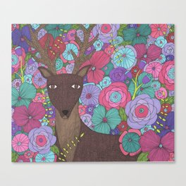 The Wise Stag Canvas Print