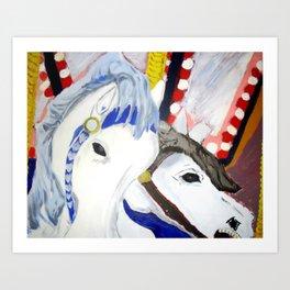 Carousel Horses Seaside Amusements Fine Art Art Print