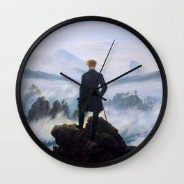 "Caspar David Friedrich ""Wanderer above the sea of fog"" Wall Clock"