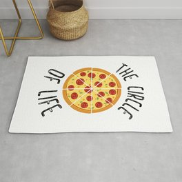 The Circle Of Life Funny Quote Rug