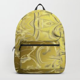silver and gold Digital pattern with circles and fractals artfully colored design for house Backpack