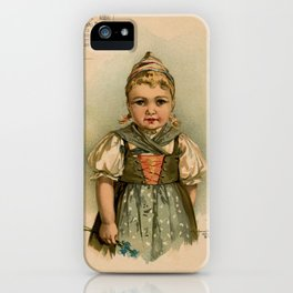 German Girl Maud Humphrey 1891 iPhone Case