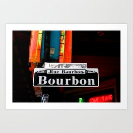Bourbon  2011 Art Print