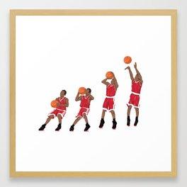 Basketball Shot Framed Art Print