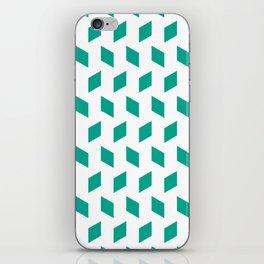 rhombus bomb in emerald iPhone Skin