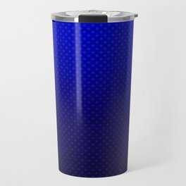 Blue Ombre with polka dots #gradient #polkadots #popular Travel Mug