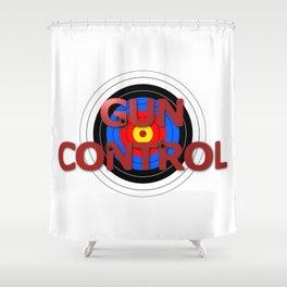 Target Gun Control Shower Curtain