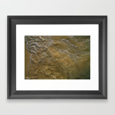 sand and bubbles Framed Art Print