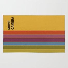 Retro Movie Camera Color Palette Rug