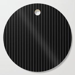 Black White Pinstripes Minimalist Cutting Board
