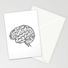 Human Brain Illustration Stationery Cards