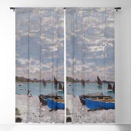 "Claude Monet ""The Beach at Sainte-Adresse"" Blackout Curtain"