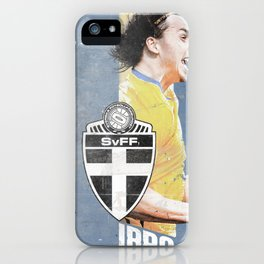 Poster euro football player IBRA iPhone Case
