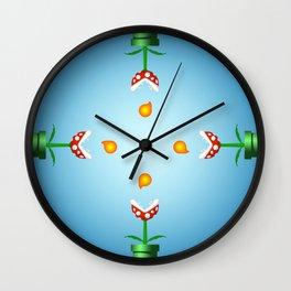 Pakkun Flower with Fire Balls Wall Clock