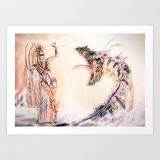 Leviathan against Shiva Art Print