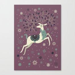 Prancing Reindeer Canvas Print