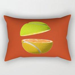 Orange tennis ball Rectangular Pillow