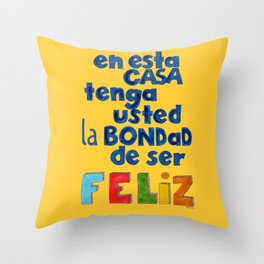 Feliz Throw Pillow
