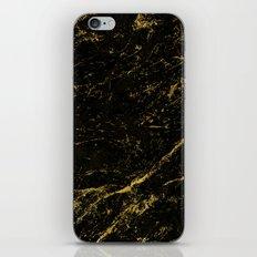 Black Gold Marble iPhone & iPod Skin