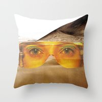 safari Throw Pillows featuring SAFARI  by Tina Time